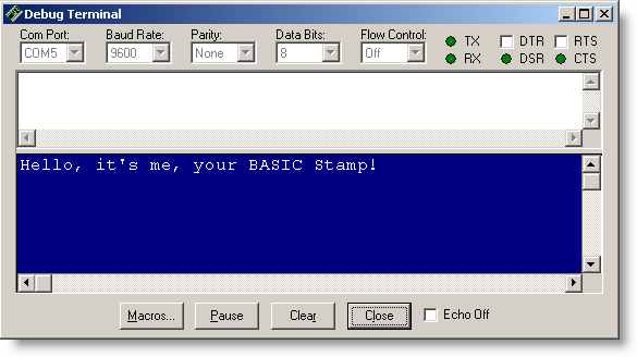The BASIC Stamp Editor Has Shortcuts For Most Common Tasks Example To Run A Program You Can Press Ctrl And R Keys At Same Time