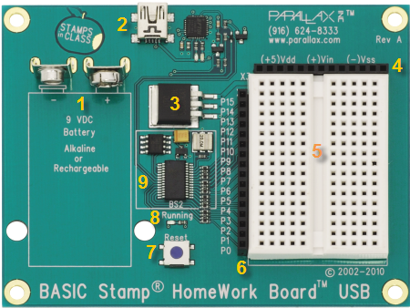 parallax basic stamp homework board usb