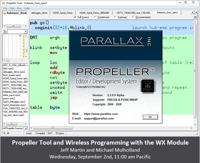 Propeller Tool and Wireless programming with the WX Module for windows