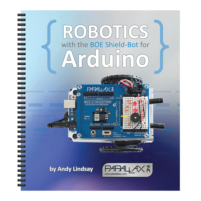 Shield-Bot for Arduino Kit Includes Spiral-Bound Printed Tutorial